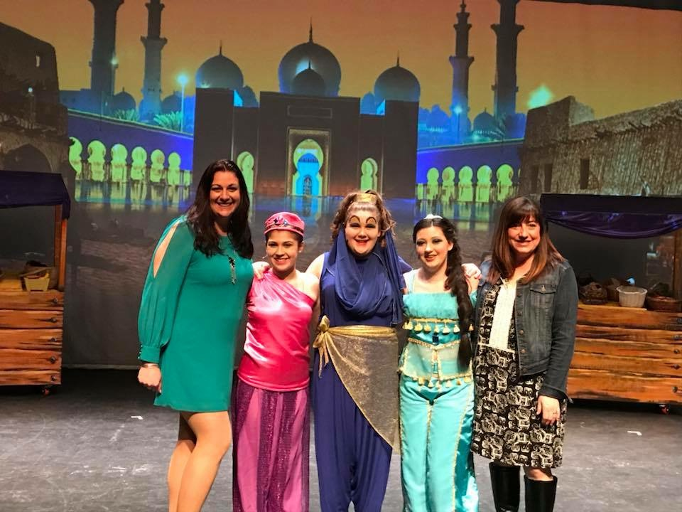 Aladdin Jr Cast on stage