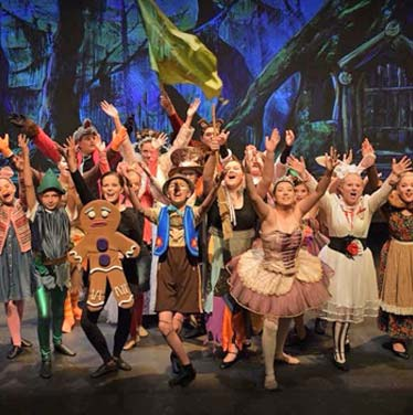 kids acting in Shrek the Musical at a children's theater production at Broadway Upstate's Children's Theater Company near Saratoga Springs NY